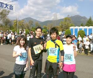 蒜山マラソン/マーメイド歯科スタッフ